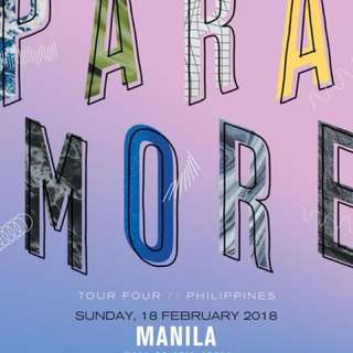 FOR SWAP: PARAMORE TO TOUR BRUNO MARS TICKETS