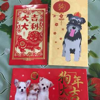 8 assorted Ang Pows with dog design (all for $3)