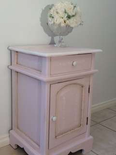 Refurbished solid wood bedside/table