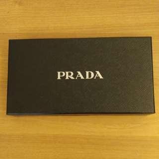 全新Prada真皮銀包