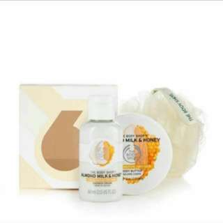 #idotrade Body Shop Almond Milk and Honey Body Butter and Shower Cream
