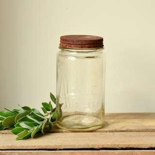 Vintage Agee Glass Preserving Jar