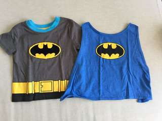 Cute Batman Top with with detachable cape. Good condition. 12-18 months