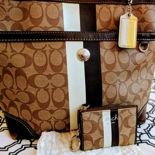 Coach purse with coin pouch