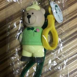 🚚 ㄧ對星巴客小熊鑰匙吊飾