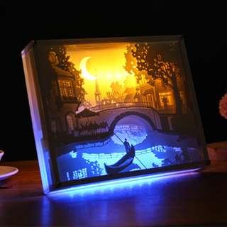 DIY Lighted Paper Art Frame - Bridge Acrylic Frame