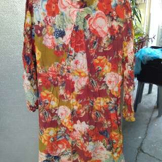 Floral 70's inspired dress