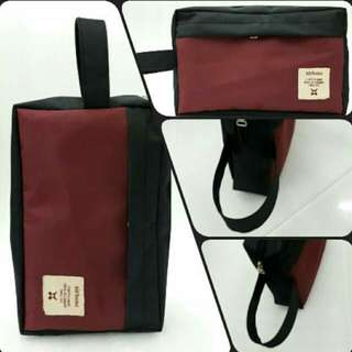 Mens Pouch Black Red