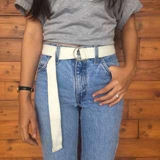 🥀 Belts 90's white