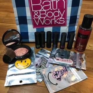 FUN PACK - highlighter, perfume, lipstick set and stickers!