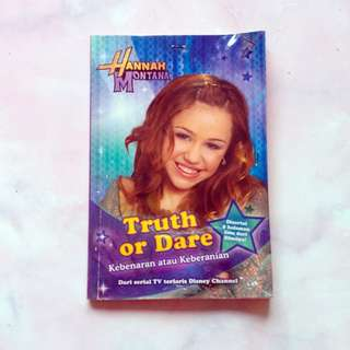 Buku Disney Channel Anak Remaja Hannah Montana Truth or Dare