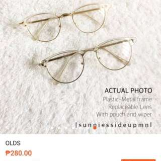 White/gold eyeglasses