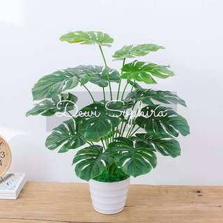 Artificial Plant in White Pot Series