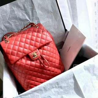 SOLD 已售Vintage Chanel 大紅色過新年背包