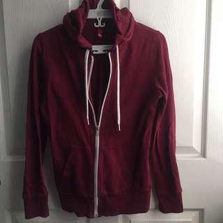 H&M Divided maroon jacket