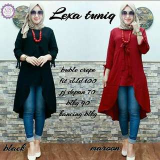 tunik/ dress/ lengan panjang
