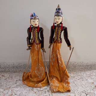 Vintage Wayang Golek Bali Puppets