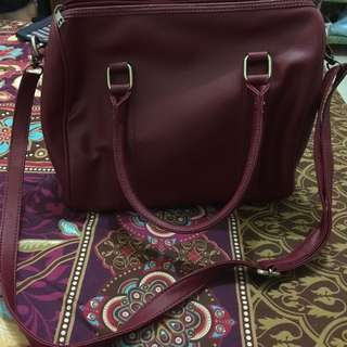 Tas top handle merah