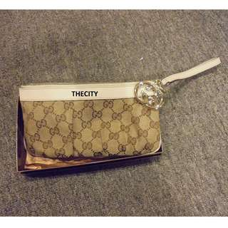 Authentic Gucci Wristlet Pochette Bag