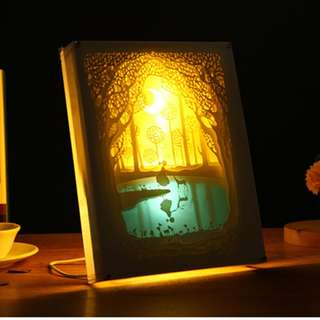 DIY Lighted Paper Art Frame - Fairy Tale Acrylic Frame