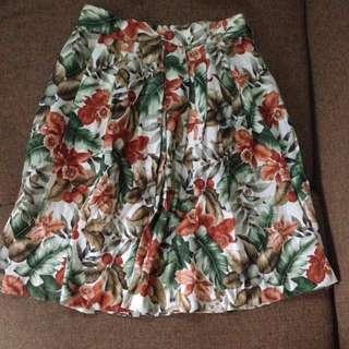Floral flare skirt
