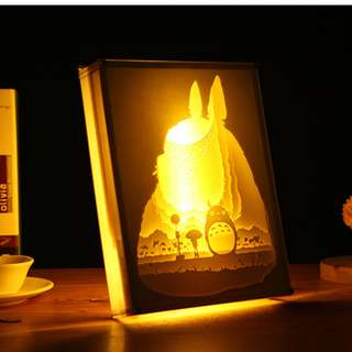 DIY Lighted Paper Art Frame - Totoro Acrylic Frame