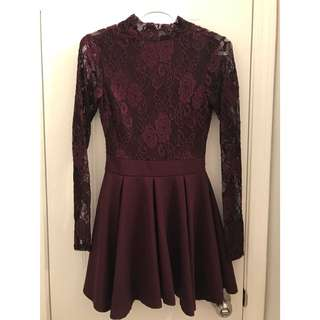 MAROON DRESS (size: small)