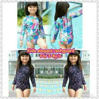Kids elegant rashguard For 3-8y/o Retail 310 Reseller 290