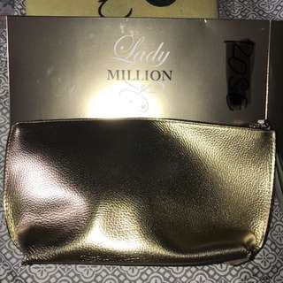 Lady Million (Paco Rabanne) Make up pouch Gold