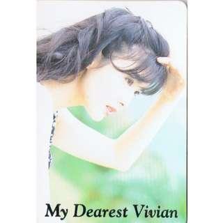 R-09,NO.FD3132,周慧敏 ,彩照下有金字-MY DEAREST VIVIAN !背面曲詞- 悲哀搖擺,全購系列-原價6折