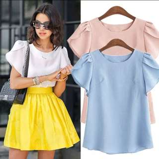 Plus size Baby Blue Top