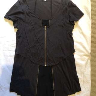 Sass & Bide black zip top