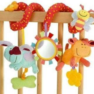 Crib Stroller Spiral Hanging Rattle Toy