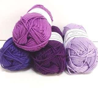 Mercerized Cotton Yarn (choose yr colours)