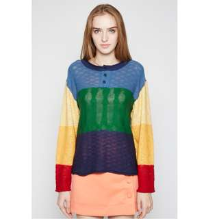 Long Sleeved Colourful Top