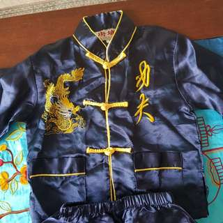 Chinese suit for boys (pure silk)