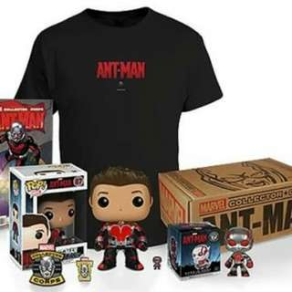 Antman Marvel Collector Corps with Ant-Man Funko Pop