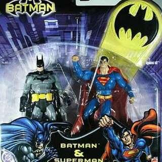 Batman and Superman 2Pack Mattel