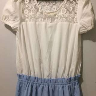 Blue& white dress