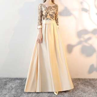 Dual tone gold dress / evening gown