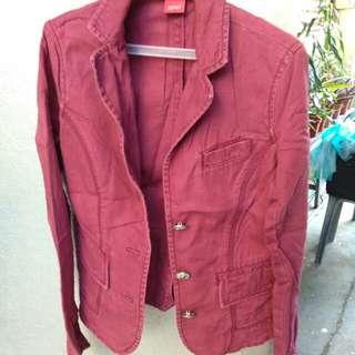 Maroon Esprit Jacket/Blazer
