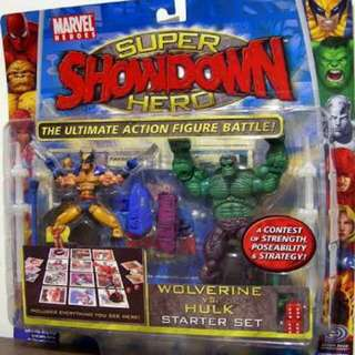 Marvel Universe Superhero Showdown Hulk vs Wolverine Starter Swt