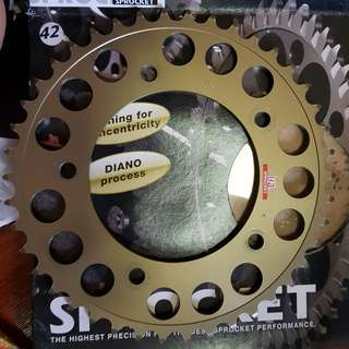 ISA Sprockets 42T for R1 2015 above 520 pitch.