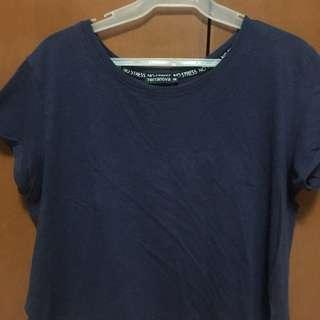 blue short top