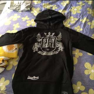 BN authentic stayreal logo hoodie sweatshirt