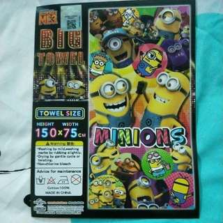 Minion official towel from jpn