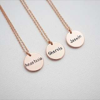 Handstamped personalised name necklace custom