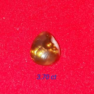Natural Fire Agate carbocheon of Mexico. Very nice fire. Suitable for ring or small pendant.