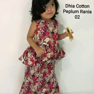 PEPLUM KIDS COTTON RANIA