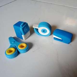 Office Supply Erasers Pack // Penghapus bentuk Alat Kantor